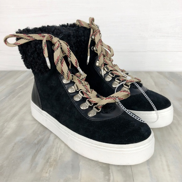 649dfc0c4c07 Sam Edelman Luther Faux Shearling High Top Sneaker